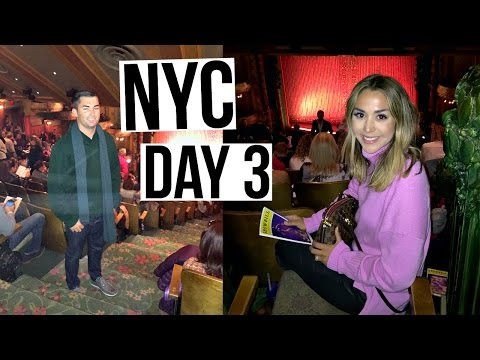 Our FIRST Broadway Show | NYC VLOG | ALEX and MICHAEL