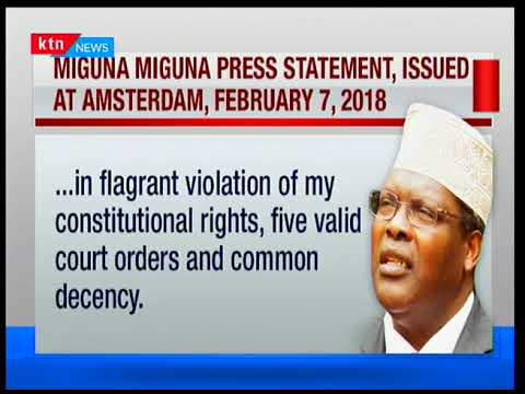 Miguna issues press statement from Amsterdam following his deportation