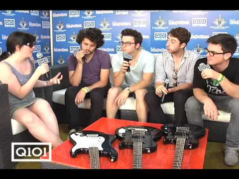 Electra interview Passion Pit at Lollapalooza '09