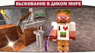 ч.04 Дружелюбный скелет и атака кровожадных Червей!! - Выживание в диком мире (Lp.Minecraft)