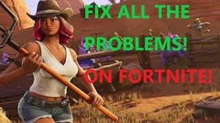 HOW to SOLVE ANY PROBLEM ON FORTNITE- UPDATE/BUG/LAG/FPS/AUDIO/VIDEO/FIX