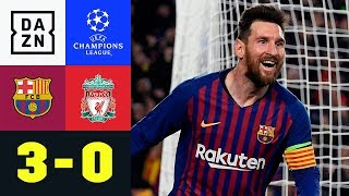 Lionel Messi in Gala-Form: FC Barcelona - FC Liverpool 3:0 | UEFA Champions League | DAZN Highlights