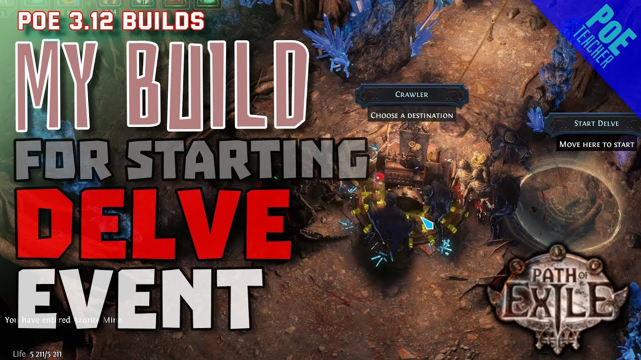 Path Of Exile 3 12 My Build For Starting Delve Event Youtube