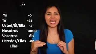 learn spanish verbs conjugation regular present tense ar er ir