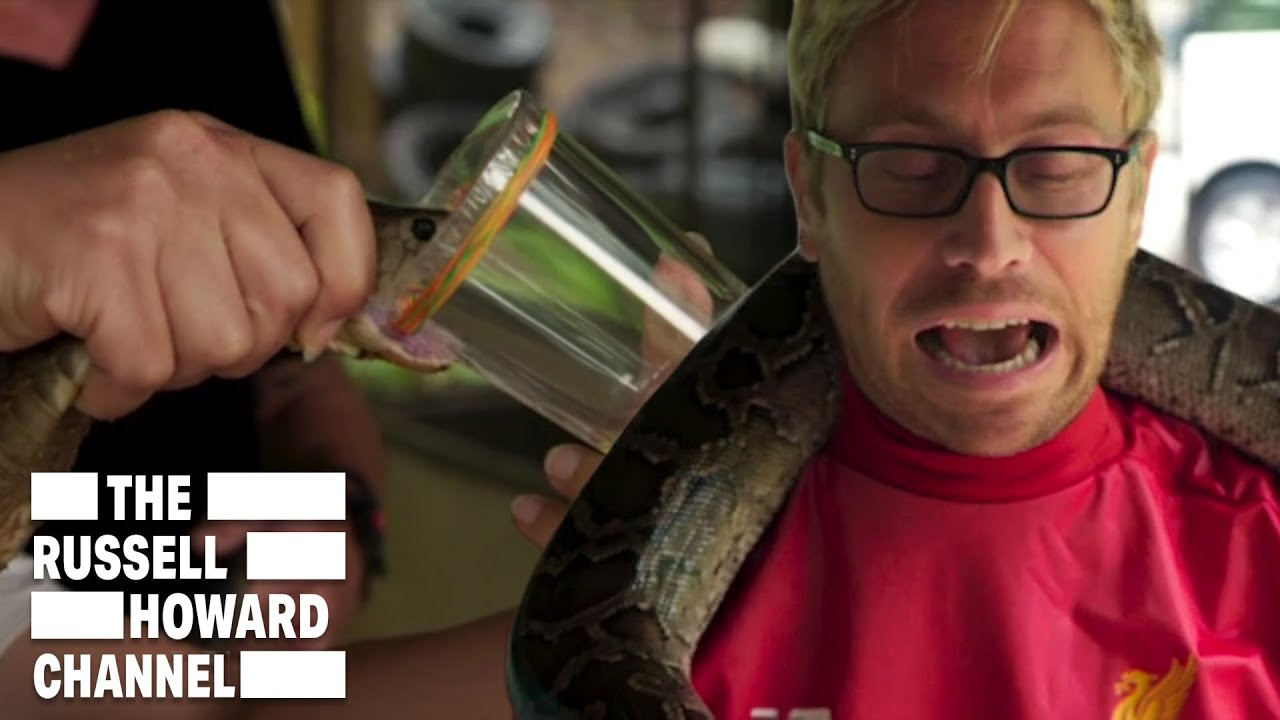 Russell Howard & Mum Milk Snakes in Thailand | The Russell Howard Channel