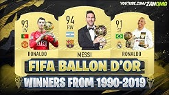 Ballon d'Or Winners From (1990-2019)