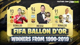 Ballon D'or Winners From  1990-2019