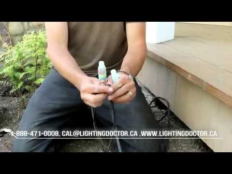 landscape lighting installation how to make waterproof wiring connections