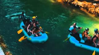 River Rapids Rafting & Tubing Down The Rio Bueno in Jamaica