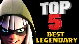 TOP 5 Best Legendary Cards in Clash Royale After Update 2017