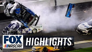 Denny Hamlin wins Daytona 500 as Ryan Newman's car flips on last lap | NASCAR ON FOX HIGHLIGHTS