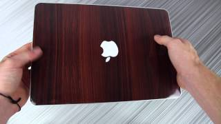 Walnut Wood Skin on the MacBook Pro 13 with Retina Display - Design Skinz