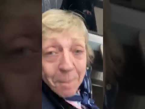 Girl Checks Old Decrepit Racists On Train.