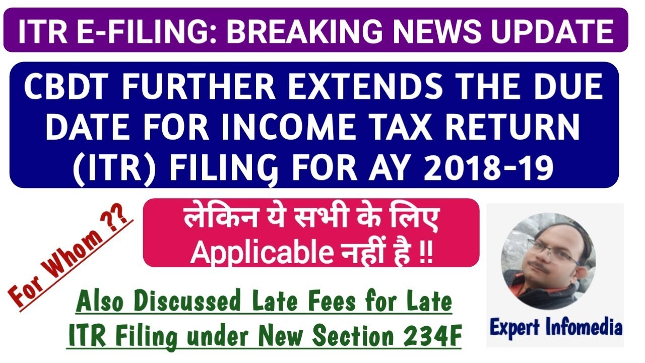 Due date for filing income tax return ay -13 extended