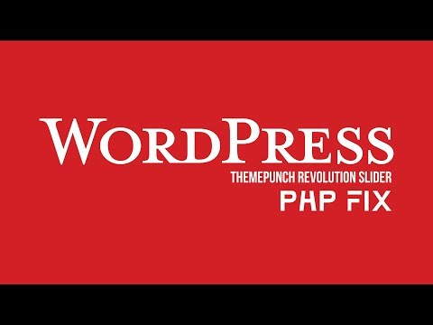 WordPress ThemePunch Revolution Slider db.class.php Line Fix PHP 5.6