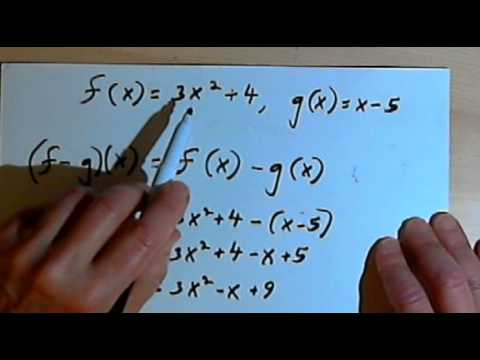 Sum, Difference, Product & Quotient of Two Functions  143-2.6.1