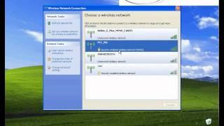 Connecting WiFi on Windows XP
