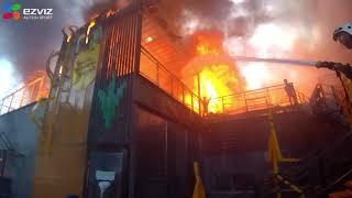 пожар в Шымкенте. Ресторан гараж. 11.05.18