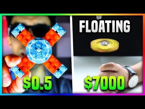 $0.5 LEGO FIDGET SPINNER Vs. $7000 FIDGET SPINNER (Floating Fidget Spinner VS Lego Fidget Spinner)