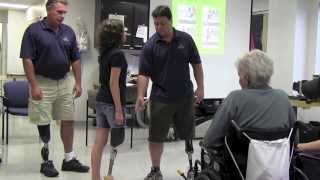 Repeat youtube video Amputee Walking School at St. John Providence