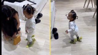 Kim Kardashian 1yr Old Daughter Can Walk In Her Heels
