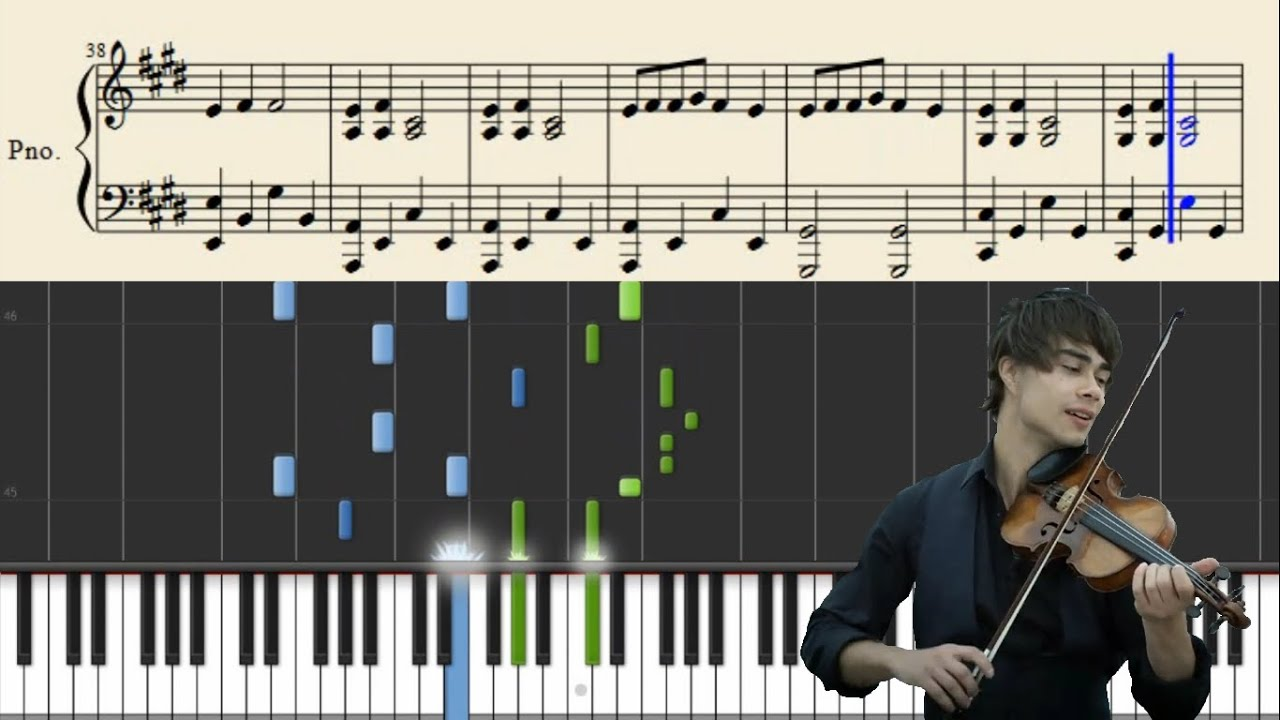 Alexander Rybak Fairytale Piano Tutorial Sheets