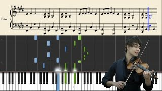 Alexander Rybak - Fairytale - Piano Tutorial + Sheets