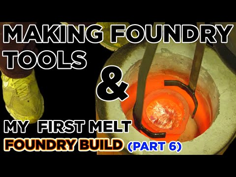 DIY HOME FOUNDRY * I MELT SOME METAL OMG * My First Foundry Tools AND FIRST MELT * FIRST POUR *