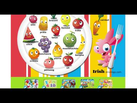 Online Irish games - Click and tell online game - Irish language learning games for kids