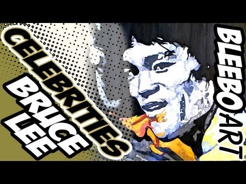 Pop Art Drawing - BRUCE LEE [BLEEBO ART]