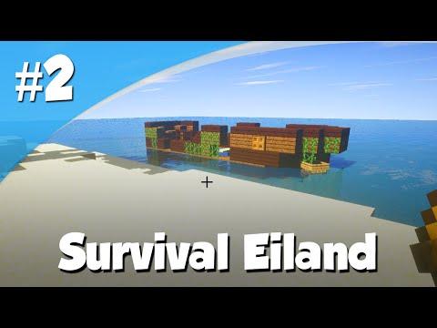Minecraft Survival Eiland - (Dag 2) - Exploring Time! (Stranded Raft Map)