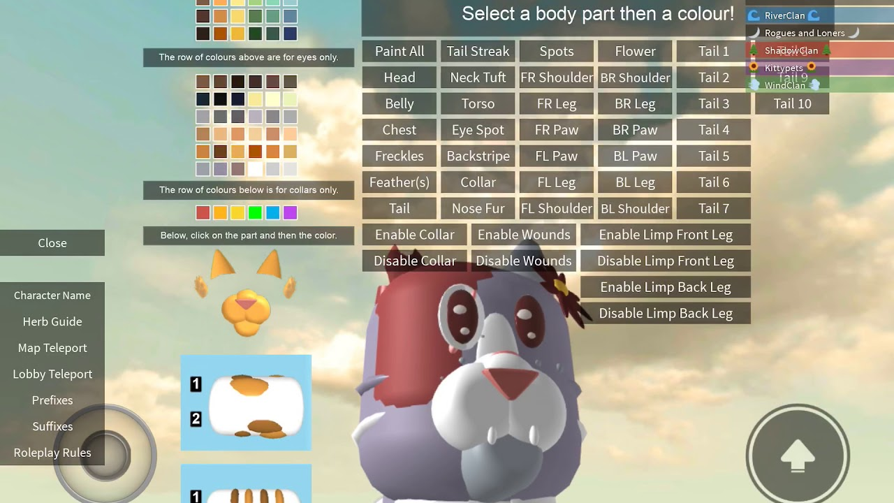 How To Make A Good ROBLOX Morph [[ Warrior Cats ~ Forest Territory RP ]]