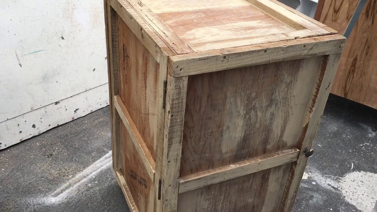 DIY How To Make A Rustic Bedside Table From A Wood Crate, Easy Beginner  Build.