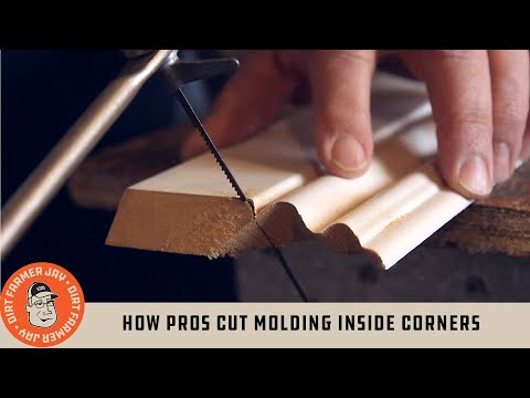 How Pros Cut Molding Inside Corners