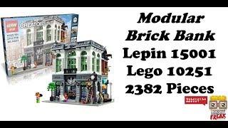 Review Brick Bank - Lepin 15001 - Lego 10251 Creator Expert Deutsch