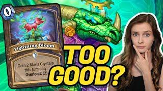 Lightning Bloom OP In Big Druid?! | Scholomance Academy | Hearthstone