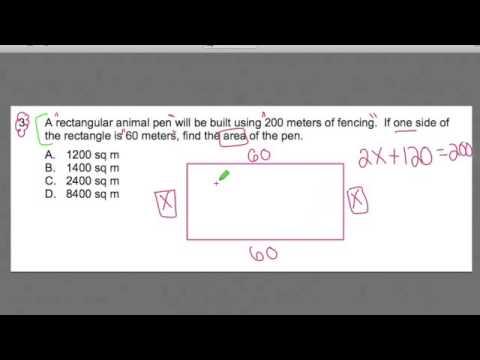 ftce math 3 area problem gohmath com youtube rh youtube com free ftce math study guide ftce math 6-12 study guide
