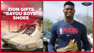 Zion Williamson Gifts Teammates 'Bayou Boys' Jordans