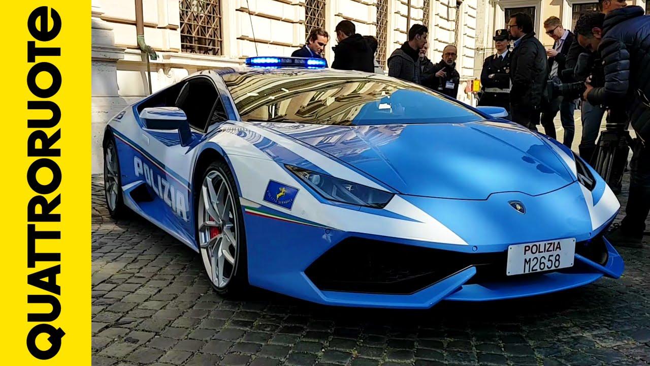 La nuova Lamborghini Huracan donata alla Polizia di Stato - YouTube
