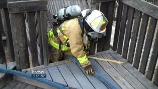 Firefighters use playscape to train thumbnail