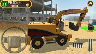 Kepçe Oyunu Kamyon Sürücüsü || Construction Site Truck Driver - Android Gameplay