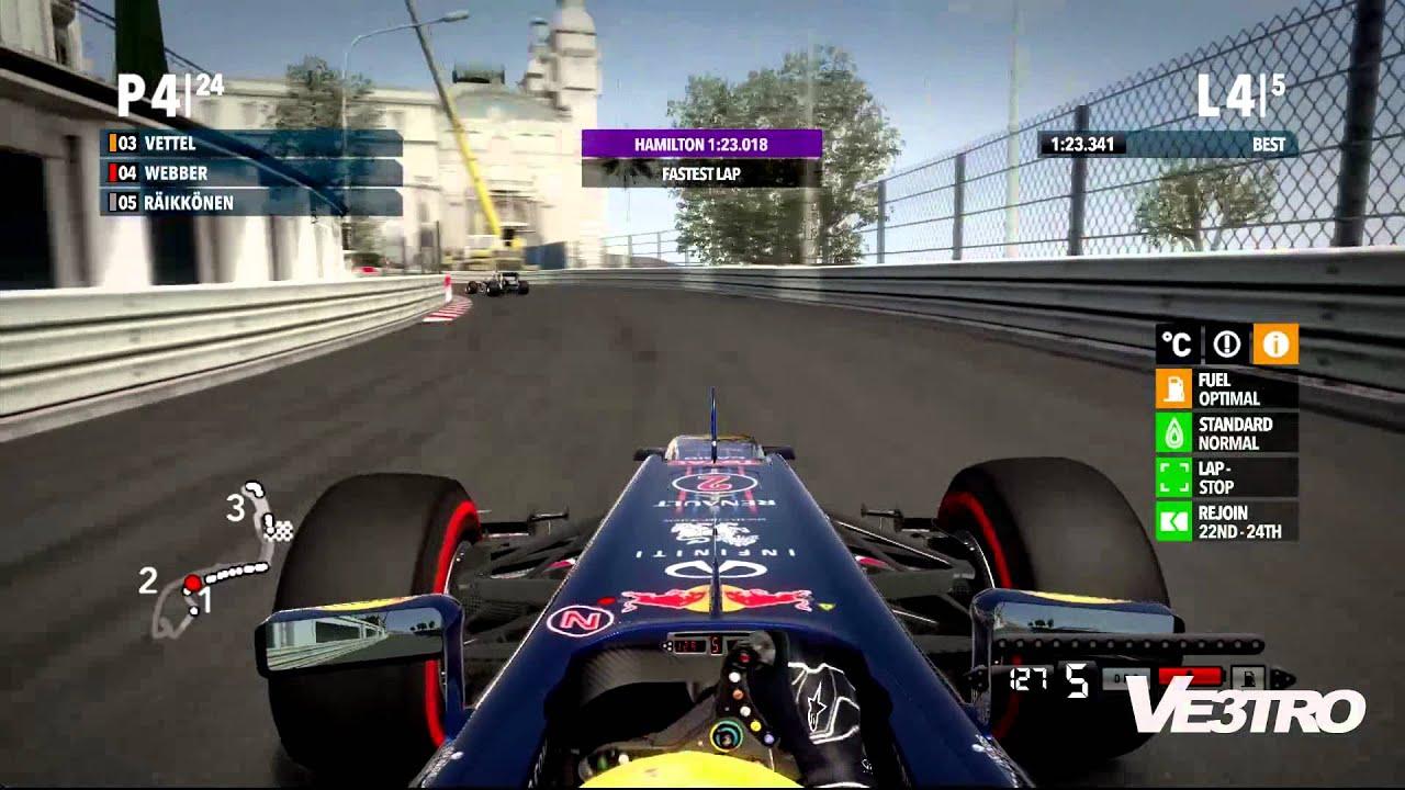 F1 2012 Red Bull Monaco Circuit De Monaco Gameplay Youtube