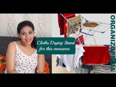 Drying Cloths in Monsoon | Bonita Drying Stand Review | Organizopedia
