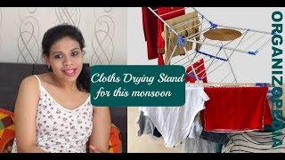 Drying Cloths in Monsoon   Bonita Drying Stand Review   Organizopedia
