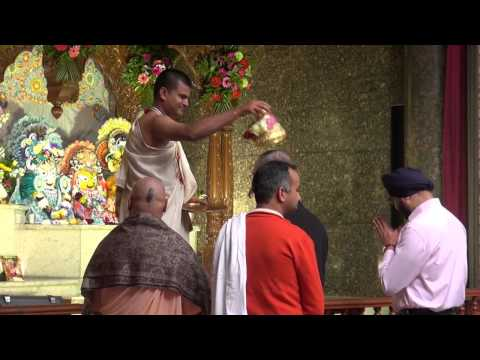 Traditional Maori greeting and Haka in ISKCON Auckland