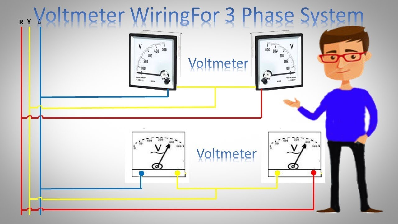 medium resolution of voltmeter wiring for 3 phase system 3 phase voltmeter installation voltmeter ammeter wiring diagram voltmeter wire diagram