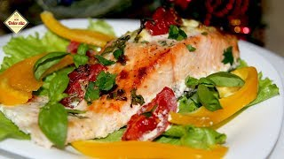 Лосось в духовке. Красная рыба в сливочном соусе. Как приготовить красную рыбу. Моя Dolce vita