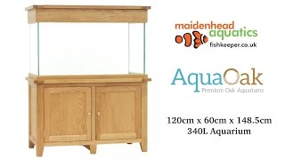 Aqua Oak 120cm x 60cm '2 Doors' Aquarium and Cabinet