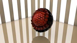 Кубическая сфера CINEMA 4D Ролик