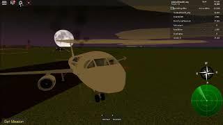 ROBLOX Air France Flight 514 gear up crash evacuation